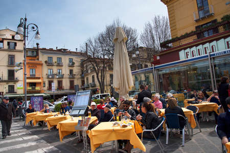 sirens: Tasso Square in Sorrento Italy