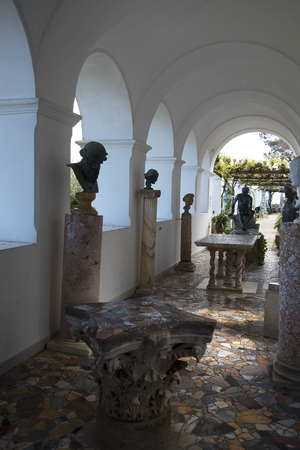 san michele: The Villa San Michele which was the home built by writer and doctor Axel Munthe in Anacapri on the Island of Capri in Italy