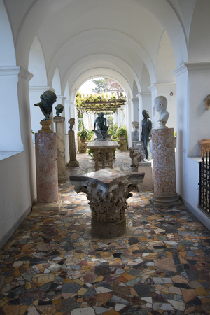 etruscan: The Villa San Michele which was the home built by writer and doctor Axel Munthe in Anacapri on the Island of Capri in Italy