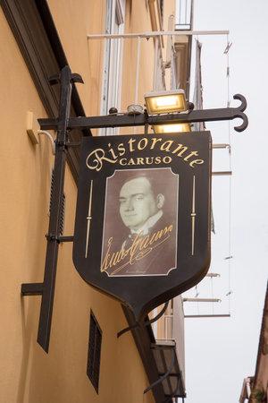 tenor: The Tenor Enrico Caruso who lived sometimes in Sorrento Italy