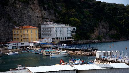 marqueteria: El casco antiguo de Sorrento bajar al puerto pesquero original de Marina Grande en Sorrento