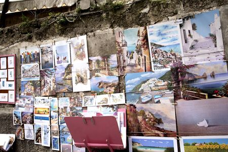 positano: Art for sale in the narrow Streets of Positano Italy