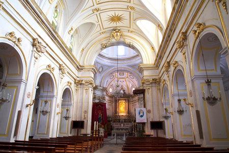 brenda kean: Cathedral Interior in Positano Italy Editorial