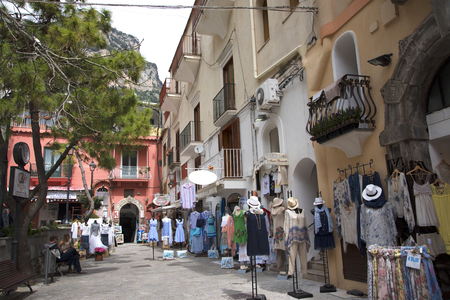 marquetry: Small Square in Positano Italy