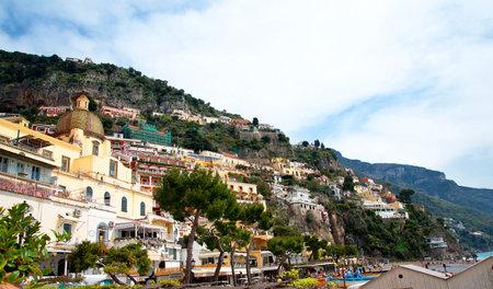 marqueteria: Positano, en la bah�a de Salerno en Italia meridional de Campania Editorial