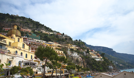 sirens: Positano on the Bay of Salerno in Campania Southern Italy