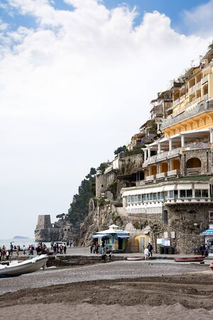 positano: Positano on the Bay of Salerno in Campania Southern Italy