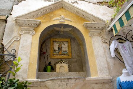 marqueteria: Positano on the Bay of Salerno in Campania Southern Italy