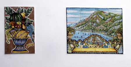 marquetry: Positano on the Bay of Salerno in Campania Southern Italy