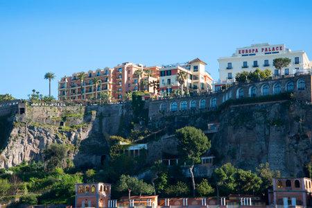 marqueteria: El puerto en Marina Piccolo en Sorrento Italia