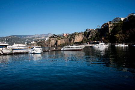 marquetry: The Port at Marina Piccolo in Sorrento Italy