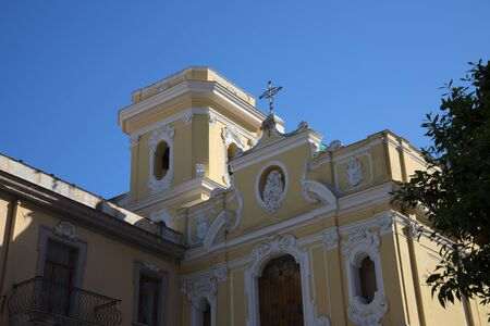 marqueteria: Iglesia Carmine en Sorrento Italia