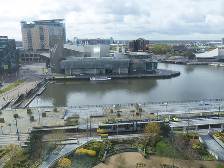 wartime: The Salford Quays was once Manchesters Docklands but now it hosts MediacityUK,the Lowry Theatre and the Imperial War Museum North