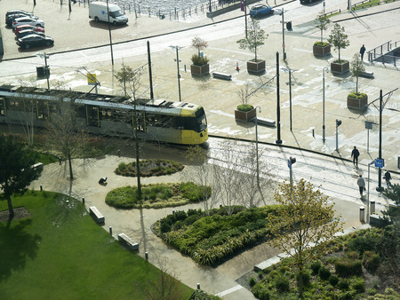 lowry: The Salford Quays was once Manchesters Docklands but now it hosts MediacityUK,the Lowry Theatre and the Imperial War Museum North wih metrolink tram
