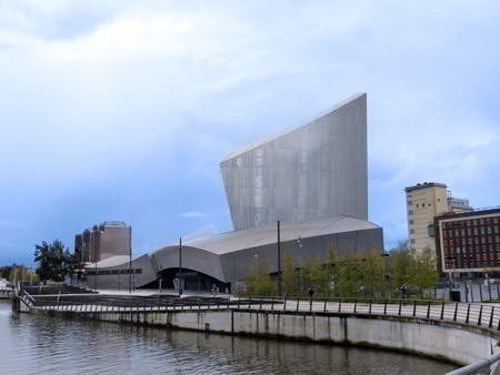 lowry: The Salford Quays was once Manchesters Docklands but now it hosts MediacityUK,the Lowry Theatre and the Imperial War Museum North