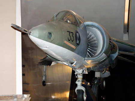 fighter jet: Fighter Jet exhibit in the Imperial War Museum North on Salford Quays Editorial