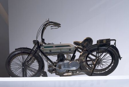 despatch: Despatch riders motorcycle exhibit in the Imperial War Museum North on Salford Quays