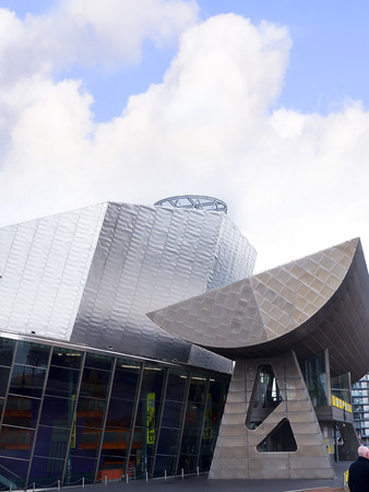 hosts: The Salford Quays was once Manchesters Docklands but now it hosts MediacityUK,the Lowry Theatre and the Imperial War Museum