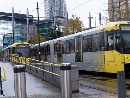 lowry: The Salford Quays with Metrolink Tram was once Manchesters Docklands but now it hosts MediacityUK,the Lowry Theatre and the Imperial War Museum Editorial