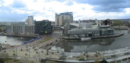 wartime: The Salford Quays was once Manchesters Docklands but now it hosts MediacityUK,the Lowry Theatre and the Imperial War Museum