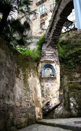sirens: Shrine in Marina Grande the old fishing port of Sorrento Italy Editorial