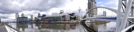 previously: Salford Quays is an area of Salford, Greater Manchester, England, near the end of the Manchester Ship Canal. Previously the site of Manchester Docks