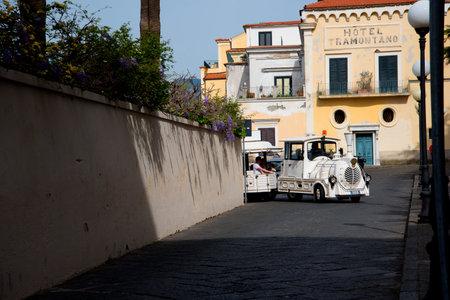 sorrento: Tourist Train In Sorrento Italy Editorial