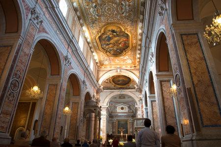 sorrento: Cathedral of Sorrento in Campania Italy Editorial