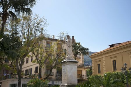 sorrento: Piazza Antonino Abate in Sorrento Italy