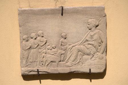 sorrento: Roman Plaque in Street in Sorrento Italy