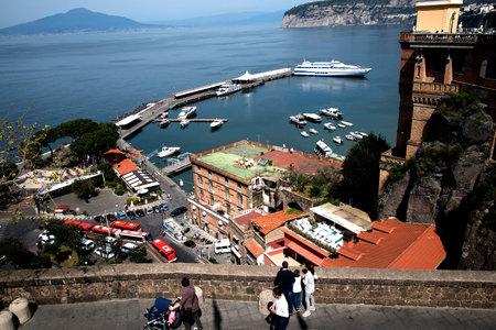 sorrento: The Ferry Port in Sorrento Italy