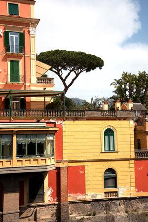 brenda kean: Hotel and Garden  overlooking the sea in Sorrento Italy and Mount Vesuvius