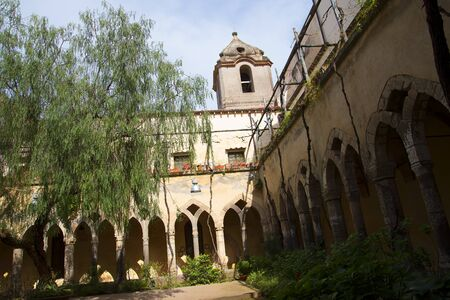 brenda kean: The Cloisters of the Church of St Francis in Sorrento Italy