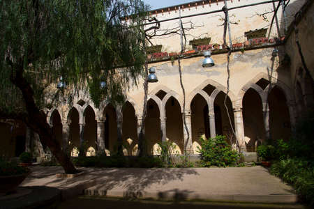 sorrento: The Cloisters of the Church of St Francis in Sorrento Italy