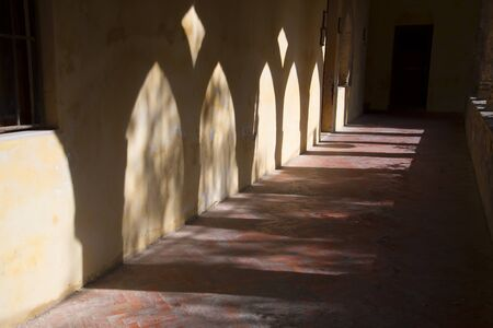 st francis: The Cloisters of the Church of St Francis in Sorrento Italy