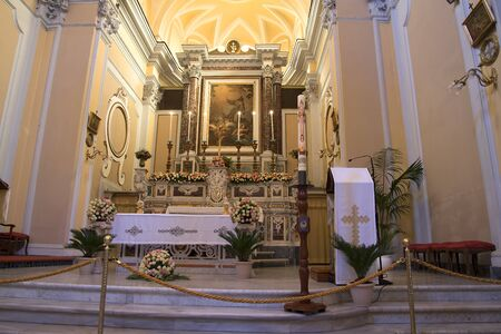 st  francis: St Francis Church in Sorrento Italy Editorial