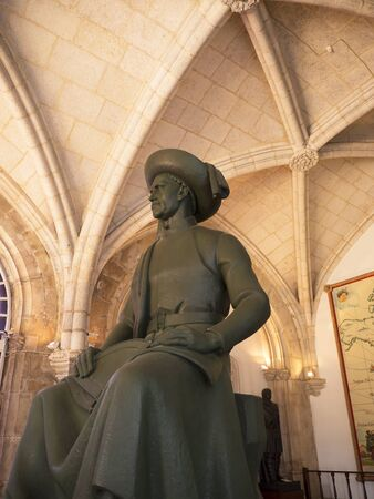 henry: Statue of Henry the navigator in the Maritime Museum in Belem District in Lisbon Portugal
