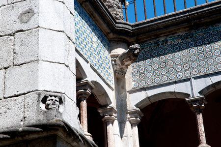 palacio: Palacio da Pena in Sintra in the Hills above Lisbon in Portugal
