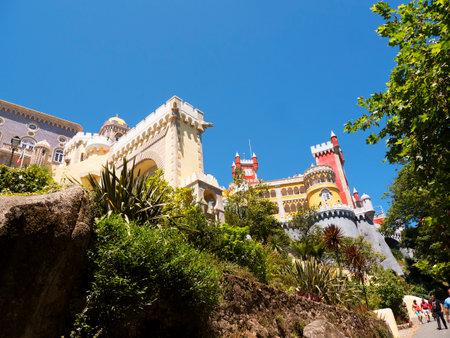 pena: Palacio da Pena in Sintra in the Hills above Lisbon in Portugal