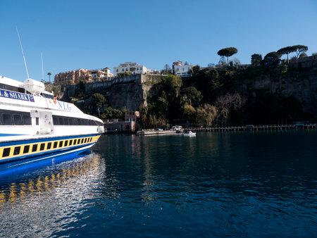 sirens: Marina Piccolo the ferry port of Sorrento in Campania Italy