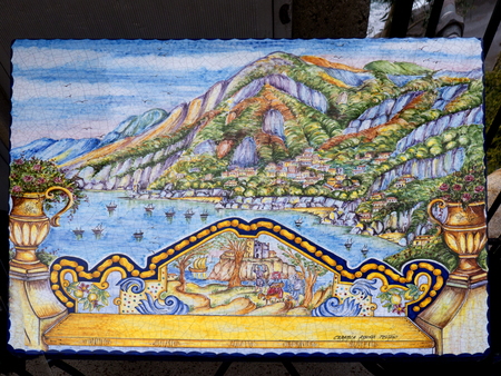 steinbeck: Positano on the Amalfi Coast is known for its fine ceramics still produced in the town