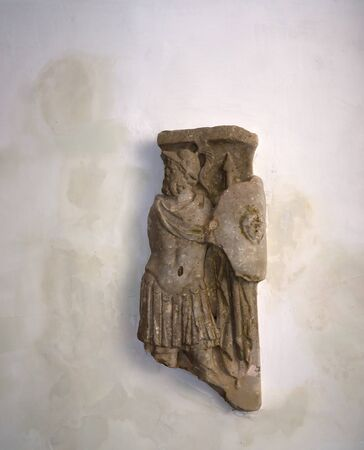 sirens: Fragments of Roman Carving in Anacapri on the island of Capri Italy