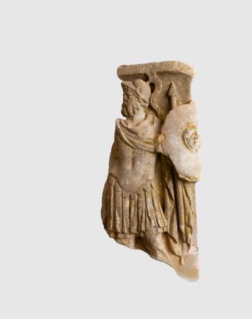 anforas: Los fragmentos de talla romana en Anacapri en la isla de Capri Italia
