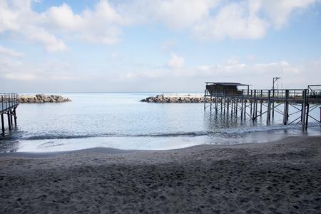 sirens: small beach in Sorrento italy Stock Photo