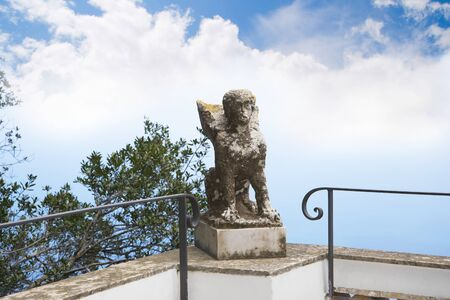 etruscan: Etruscan Sphinx at Anacapri on the island of Capri
