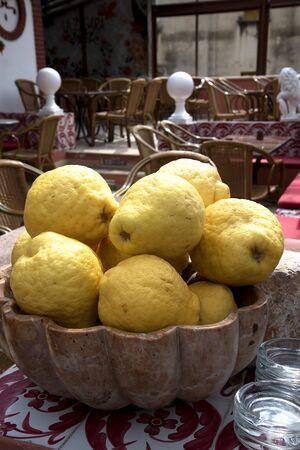 steinbeck: Huge lemons in Positano Italy Stock Photo