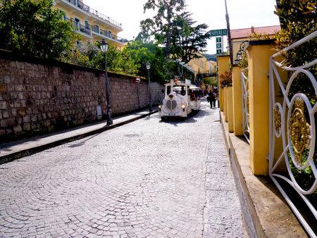 sorrento: Tourist Train in Sorrento Campania Italy Editorial