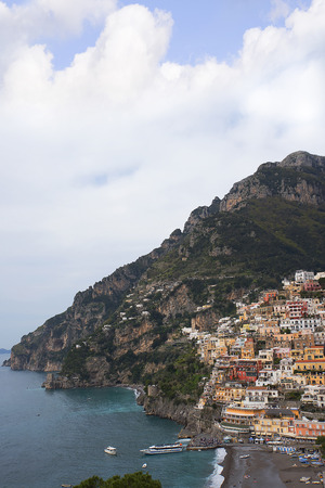 positano: Panorama of Positano in southern Italy