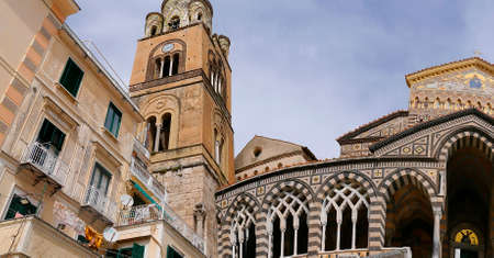 11th century: Saint Andrews Cathedral in Amalfi.. The cathedral dates back to the 11th century