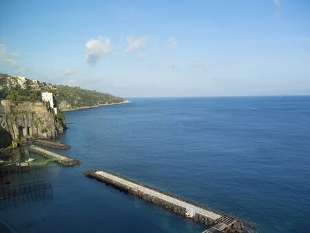 sorrento: The cliffs of Sorrento overlooking the Bay of Naples Italy